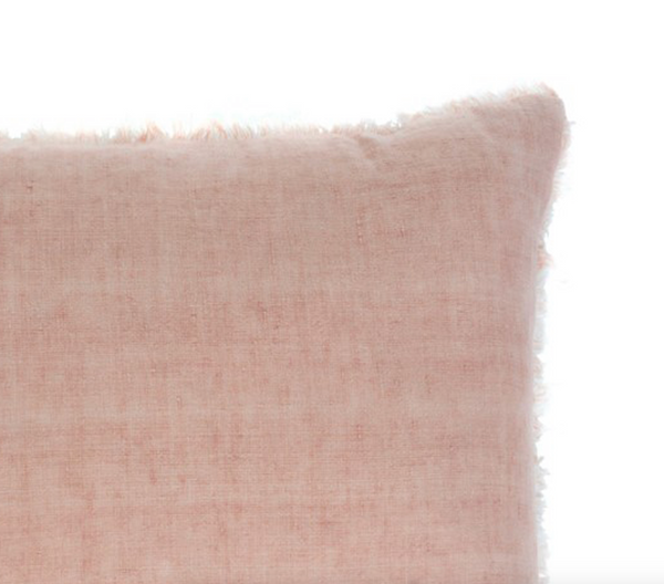 Lina Linen Pillow - Peach Pink