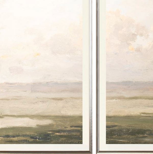Valley Tide Framed Print Triptych