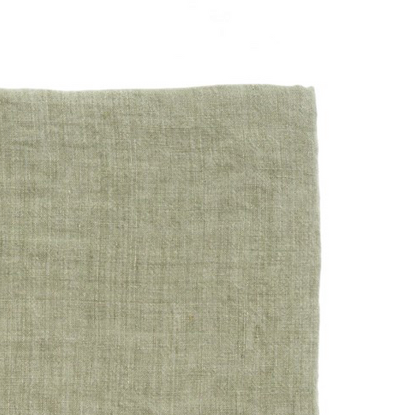 Lina Linen Throw - Olive