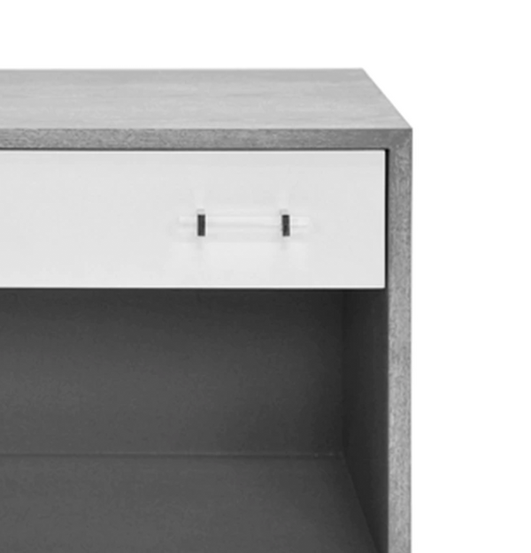 Currey Nightstand - Grey