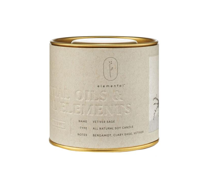 Vetiver Sage Tin Candle