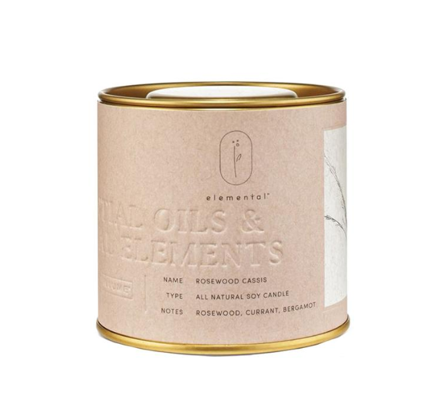 Rosewood Cassis Tin Candle