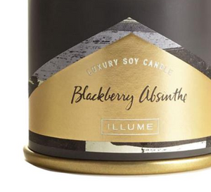 Blackberry Absinthe Demi Tin Candle
