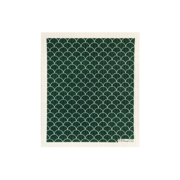 Sponge Cloth - Scallop Evergreen