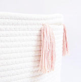 Blush Tassel Basket