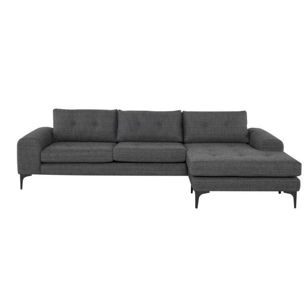 Clayton Sectional Dark Grey