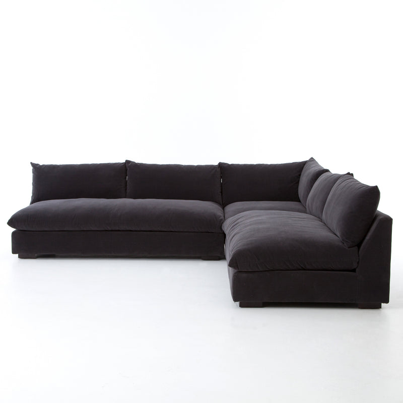 Wisconsin 3 Piece Charcoal Sectional