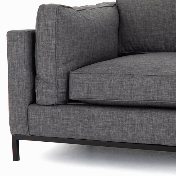 Grammercy Charcoal Grey Sofa - 72 Inch
