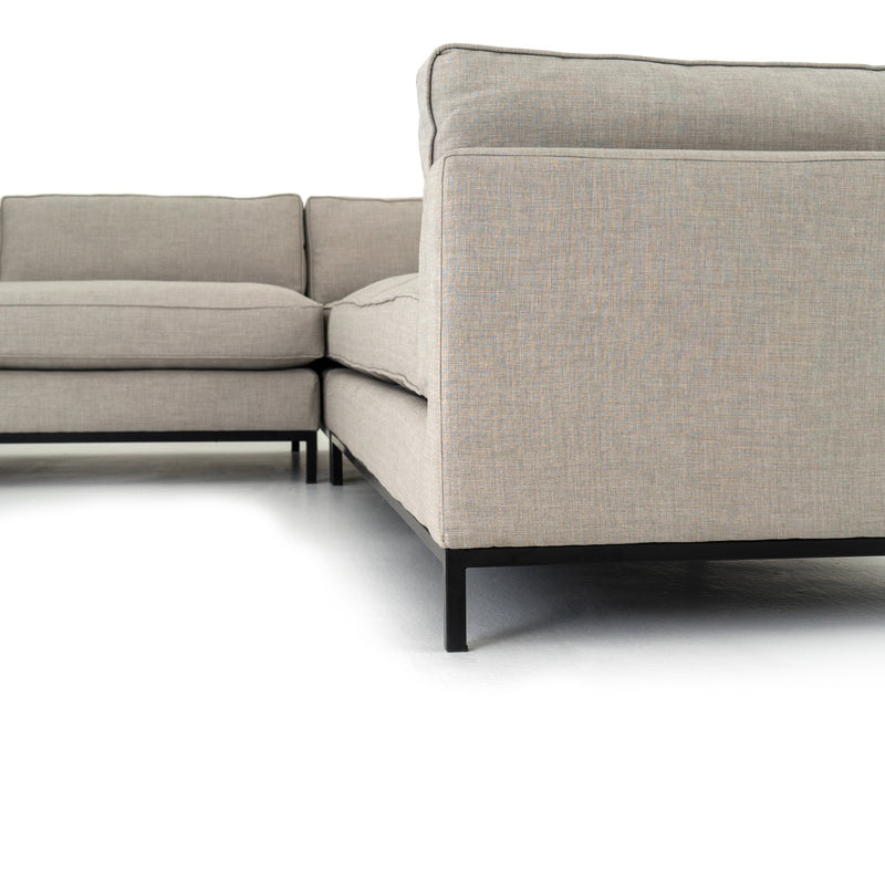 Grammercy Moon Grey 3 Piece Sectional