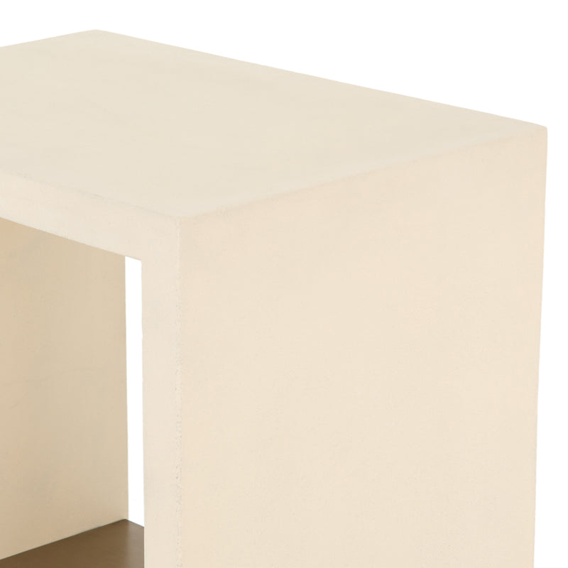 Lilia Side Table - Parchment White