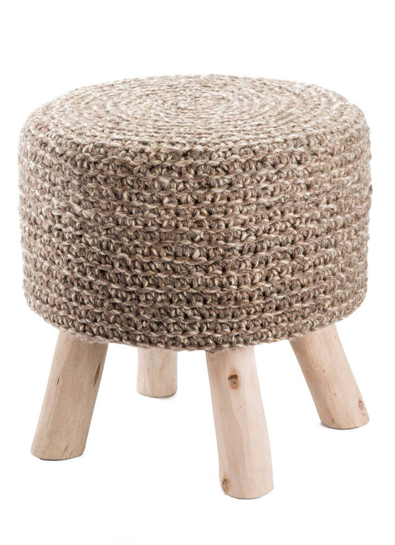 Westport Pouf Stool - Earth