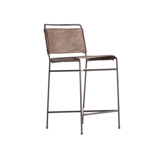 Los Angeles - Wharton Counter Stool- Brown
