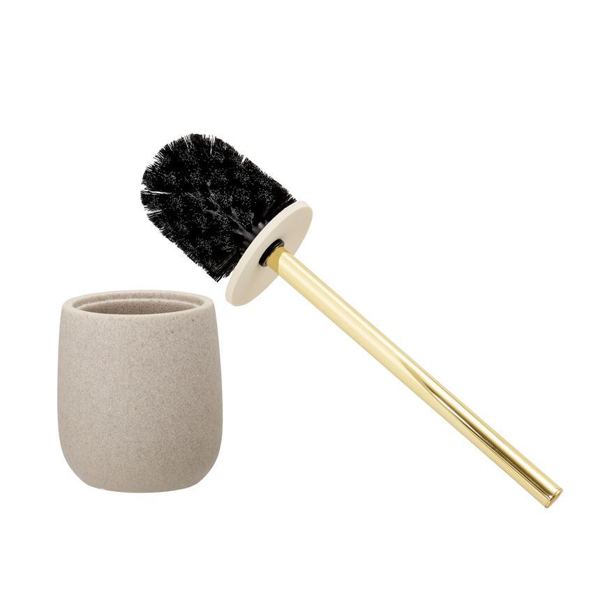 Stone Toilet Brush & Holder