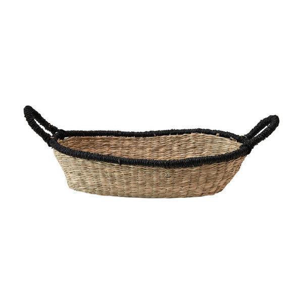 Black Trim Seagrass Basket