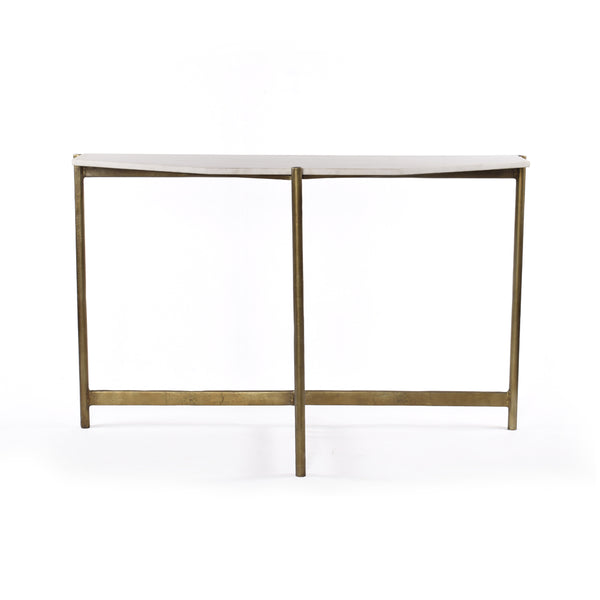 Amber Console Table - Raw Brass