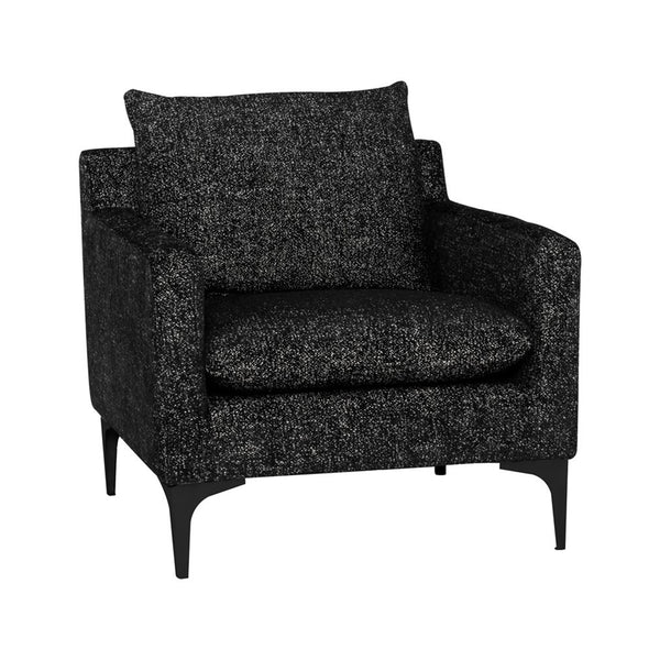 Andie Armchair - Salt & Pepper