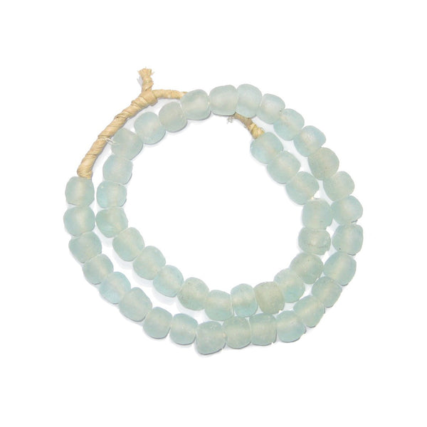 Aqua Recycled Glass Beads