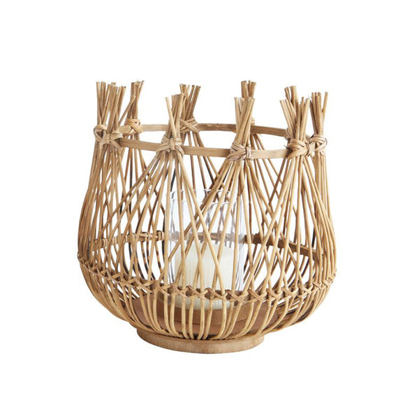 Bamboo Basket Candle Holder