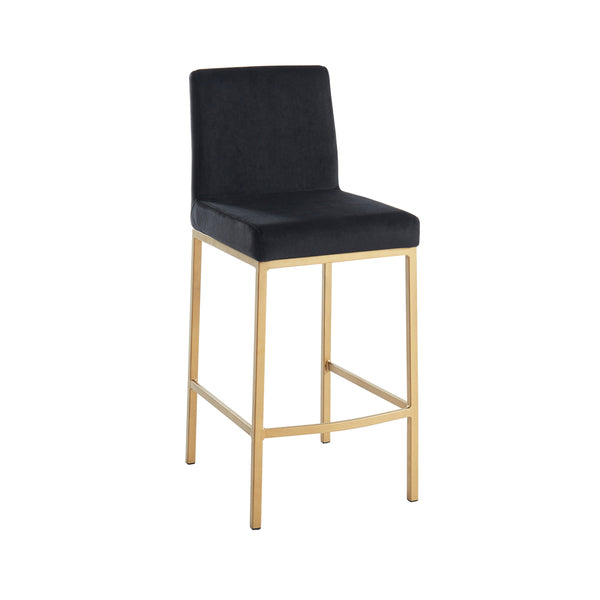 Petra Counter Stool - Black/Gold