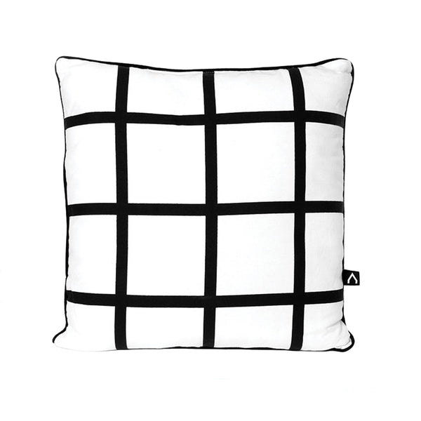 Black Grid Pillow