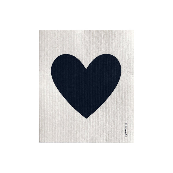 Sponge Cloth - Big Love Black on White