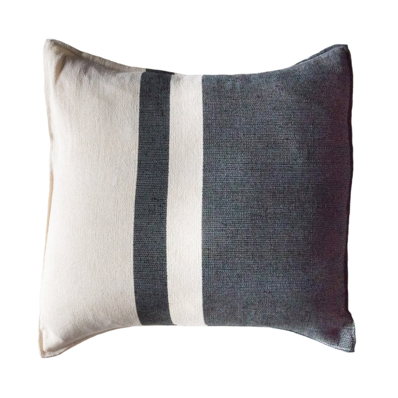 Black/Ivory Striped Pillow