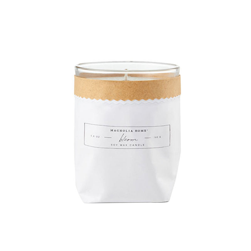 Magnolia Home Bloom Kraft-Textured Candle