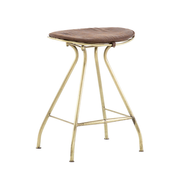 Halen Counter Stool - Brass