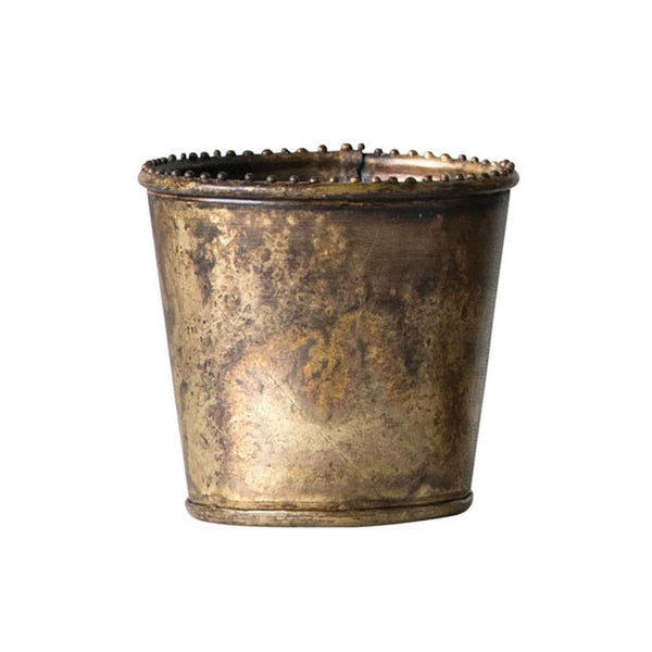 Brass Planter with Dotted Rim
