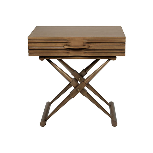 Hira Side Table - Saddle Brown