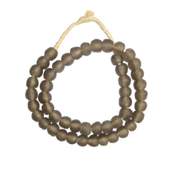 Brown Recycled Glass Beads