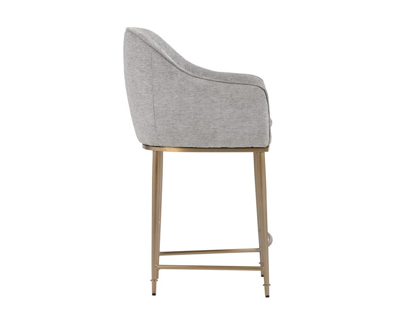 Carla Counter Stool - Flint Grey