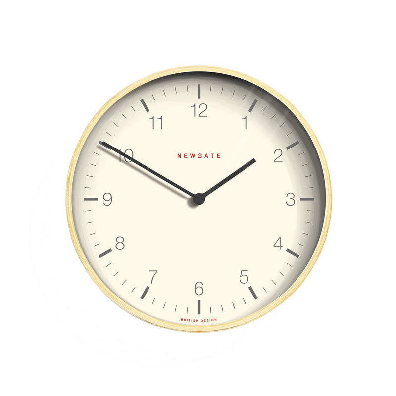 Mr. Clarke Large Wall Clock - White