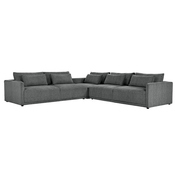 Clyde Sectional - Dark Grey
