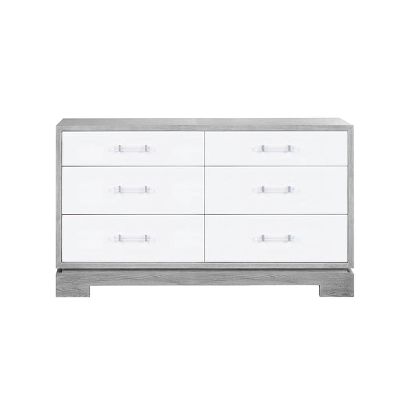 Currey 6 Drawer Dresser - Grey