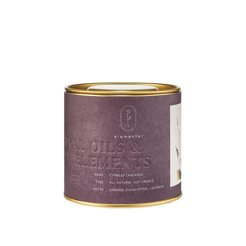 Cypress Lavender Tin Candle