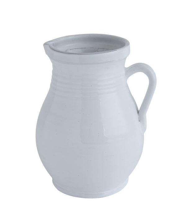 White Terracotta Pitcher