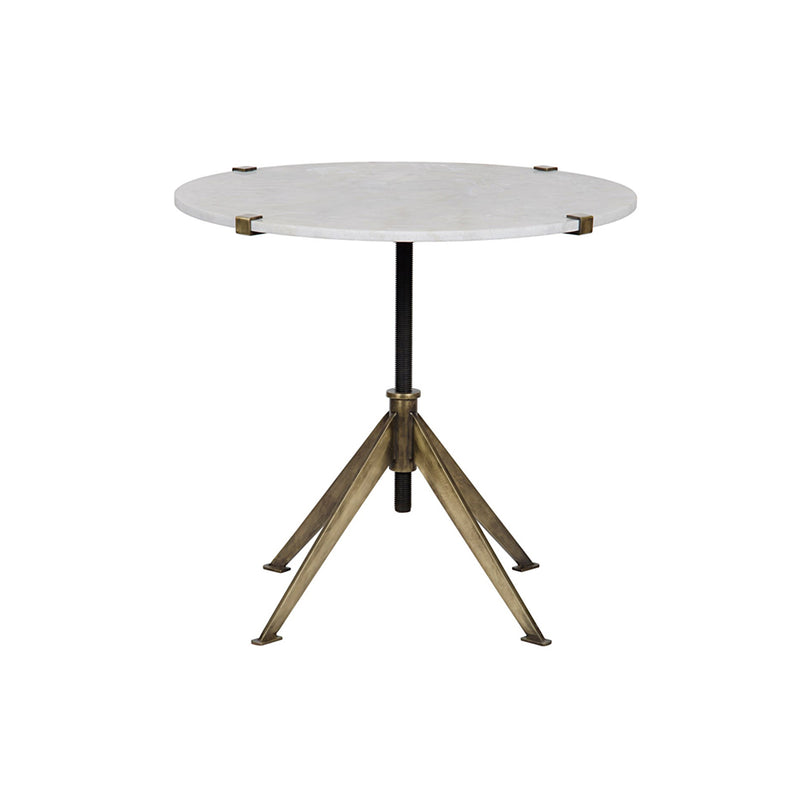 Davina Side Table - Antique Brass