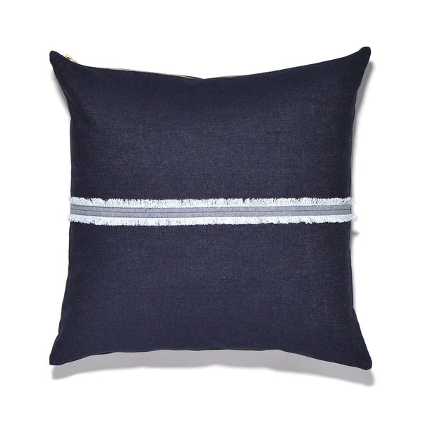Denim Fringe Pillow