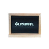 Double-Sided Black Felt Letterboard + Whiteboard