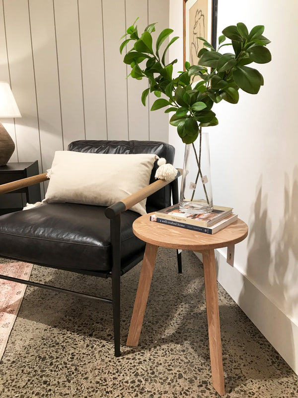 Evan Side Table - Natural Oak
