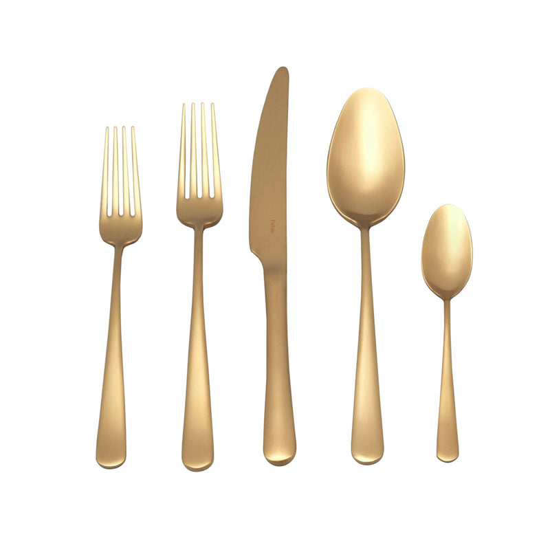 Fable Cutlery Set - Matte Gold