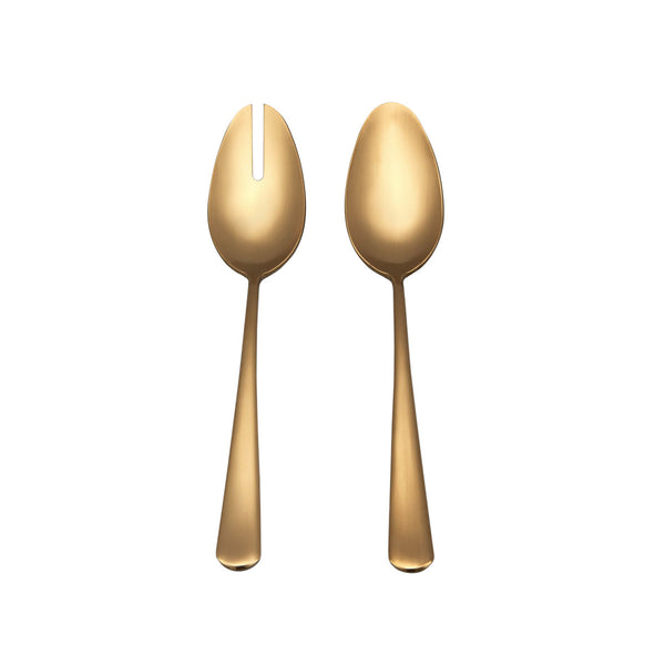 Fable Serving Spoons - Matte Gold