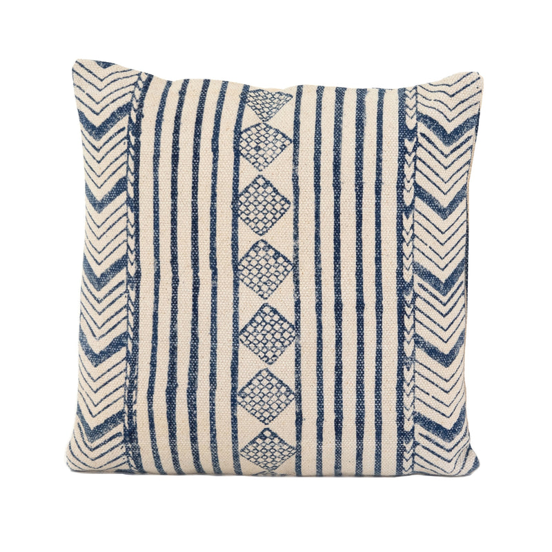 Faded Blue Diamond Pillow