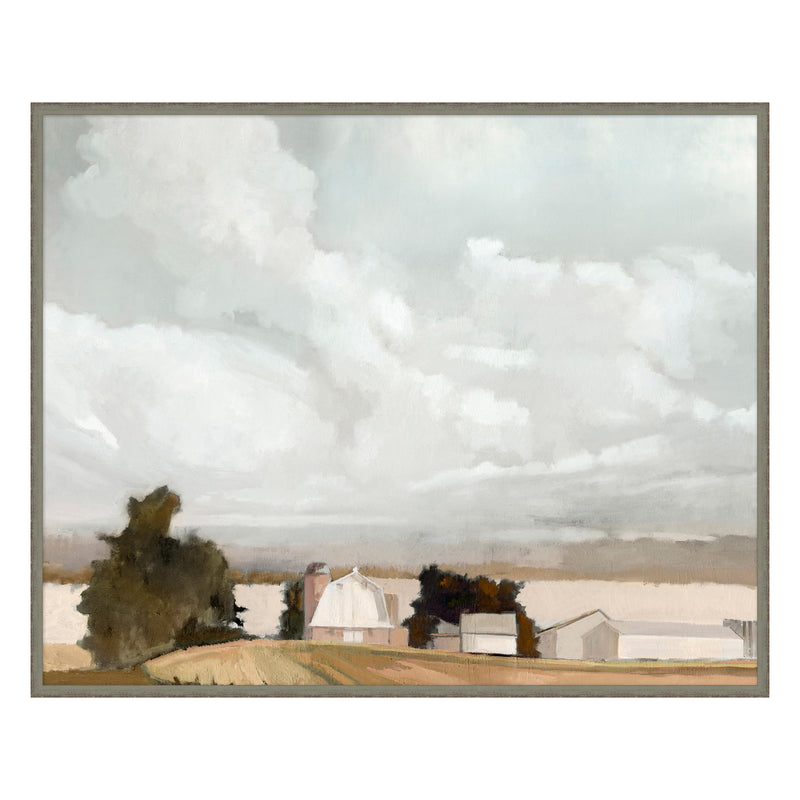 Cloudy Farms Framed Print