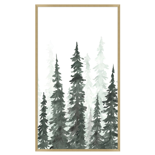 Pine Trees I Framed Print