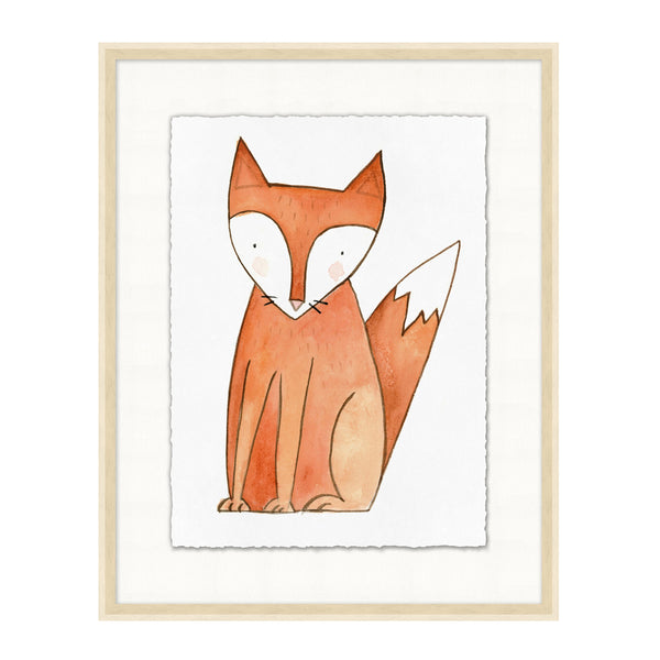 Artsy Fox Framed Print