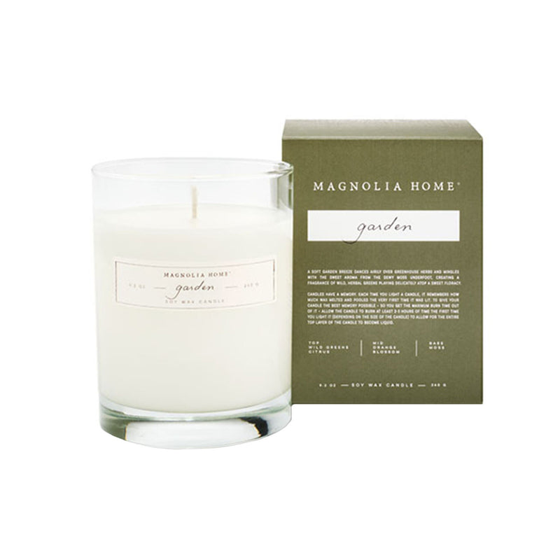 Magnolia Home Garden Glass Candle