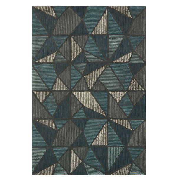 Gemology Teal/Grey Rug