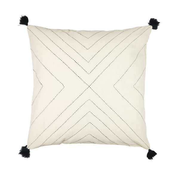 Geometric Stitch Pillow